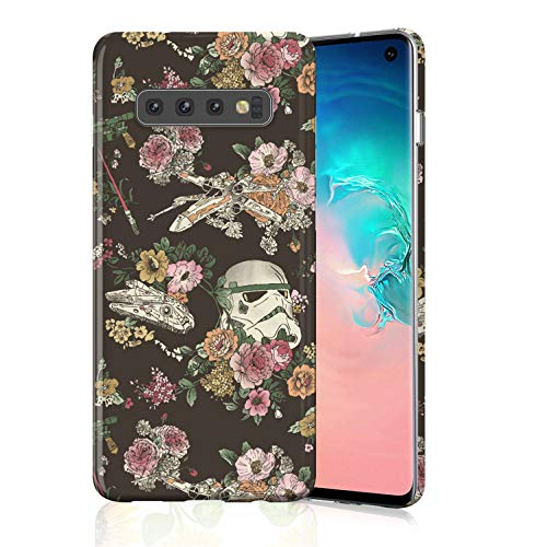 ZQ-Link Protective Case for Galaxy S10 Plus, Raised Edges Scratch Resistant Lightweight Flexible Soft TPU Rubber Silicone Cell Phone Cover for Samsung Galaxy S10+ Star Wars
