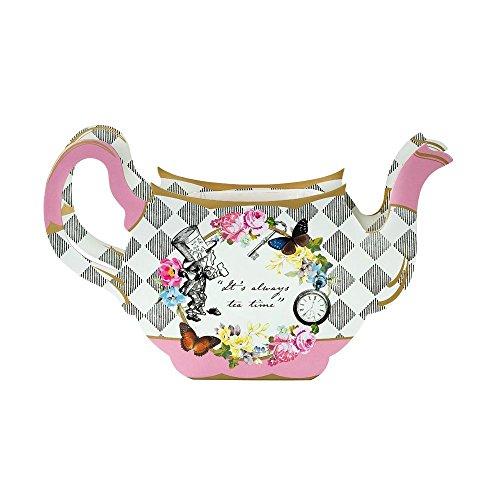 Talking Tables TSALICE-TEAPOTVASE Tea Party Floral Vintage Teapot Vase Decoration | Flower Centrepiece | Truly Scrumptious | pour Goûter Festif, Mariage, et Fête d'anniversaire, Multicolore