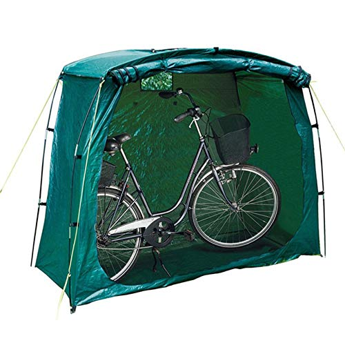 Bicycle Tent Durable Waterproof Anti Dust Rain Protection Portable Foldable Assembly Bicycle Covers for Outdoor Storage Mountain Bike Scooter and Other Items 2 Bikes 20080150Cm