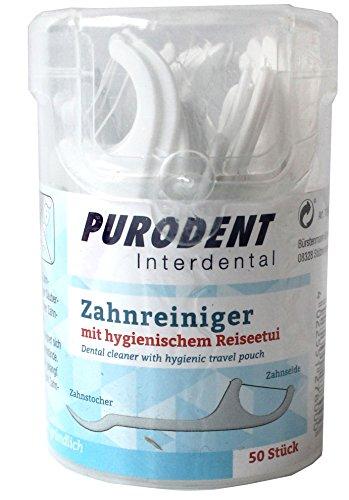 Purodent 7304 Zahnseide-Sticks/Zahnreiniger, 50er Box