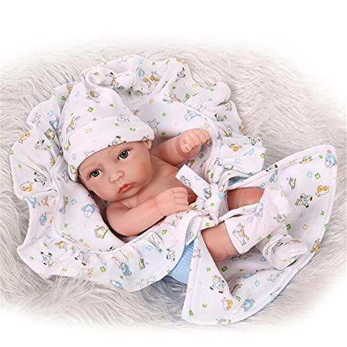 Bebes Reborn Molly, 10.6'Mini baño de simulación Realista de Silicona Completa, Duerme con Juguetes, Regalo Creativo, Accesorios de fotografía, artículos de mobiliario,Blue Boy