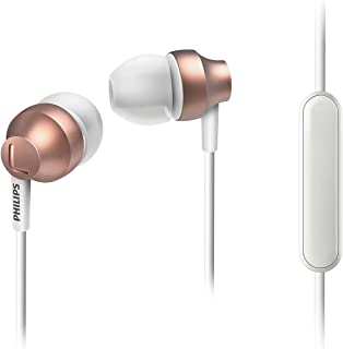 Philips Chromz In-Ear Headphones with MIC Upbeat Series SHE3855RG (Rose Gold)