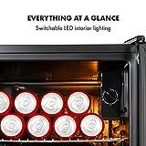 Klarstein Beersafe Onyx - Getränkekühlschrank, 5 Kühlstufen, 42 dB, flexible Metallböden, LED-Licht, Kühlschrank für Flaschen, Glastür mit schwarzem Rahmen, 80 L, F, Onyx - 3