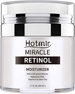 Hotmir Retinol Moisturizer Cream for Face and Neck, | with Retinol, Hyaluronic Acid, Vitamin E and Green Tea | Anti Wrinkle Cream for Men and Women - 1.7 fl oz