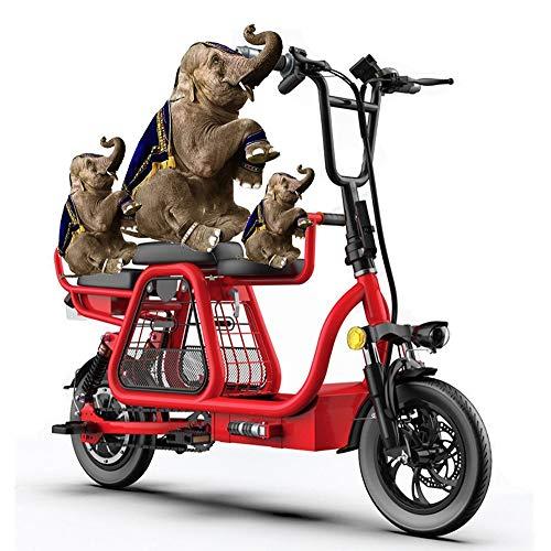 YAUUYA Bicicleta Electricas Plegables Bicis Electricas Mujer con Asiento para Niños para...