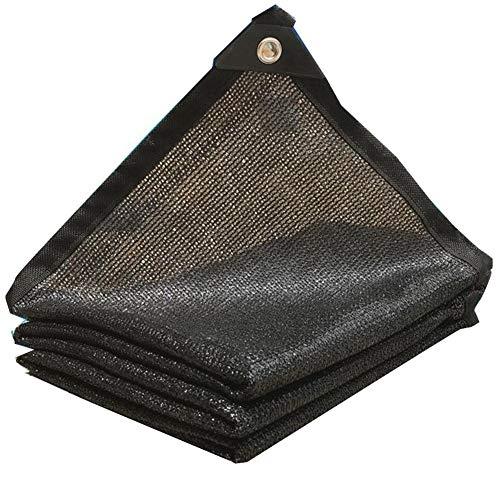 KXBYMX Filet pare-soleil noir écran de protection solaire épaississant filet d'isolation extérieur hangar filet d'ombrage Écran solaire plante de fleur de jardin (Couleur : NOIR, taille : 4x5m)