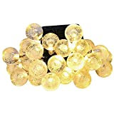 Mpow Solar String Lights, Outdoor Globe Fairy Led Light with 30 LED Crystal Balls for Outdoor, Indoor, Patio, Garden, Christmas Decorative