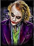 DFGAD 5D Clown Joker Full Diamond Painting Cross Stitch Kits Art Portrait 5D Paint by Diamonds