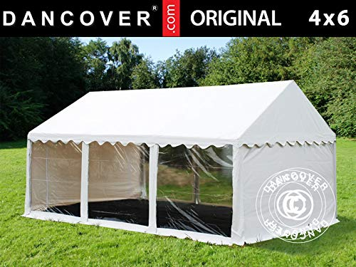 Dancover Partytent Original 4x6m PVC, Panorama, Wit