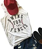 Swing for The Fences Racerback Tank Top...