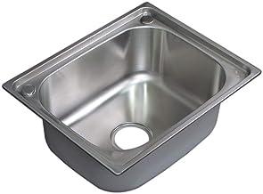 Ambest 50x40cmステンレス一槽キッチンプレスシンク排水付き業務用家庭用 WS1540