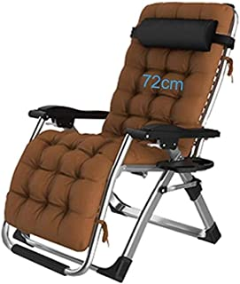 YYTLTY Extra Wide Sun Lounger Recliner Chair Relaxer with Cup Holder Folding Outdoor Garden Chairs with Padded Cushion and Foot-Rest Armchairs for Living Rooms, 72cm Wide