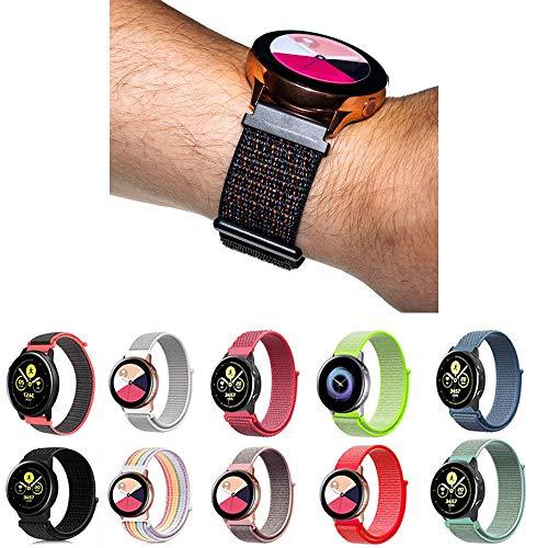 Pulseira Nylon Loop para Samsung Galaxy Watch Active 40mm e 44mm - Galaxy Watch 42mm BT - Gear S2 Classic - Gear Sport R600 - Amazfit Bip - Amazfit Gtr 42mm - Marca Ltimports (Preto Furioso)