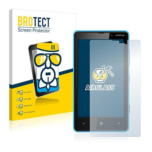 brotect Pellicola Protettiva Vetro Compatibile con Nokia Lumia 820 Schermo Protezione, Estrema Durezza 9H, Anti-Impronte, AirGlass