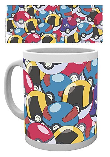 ABYstyle Mug Pokémon - Pokéballs Collection, Keramik, Multicolored, 12 x 12 x 0.38 cm