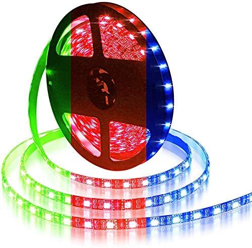 ALITOVE LEDテープライト RGB LEDテープ 5m 300連 SMD5050 RGB 12V 防水高輝度 間接照明 両面テープ 切断可能 取付簡単 イルミネーション ledライト 店舗 看板 ゲーム室 ホーム 装飾 テープライト