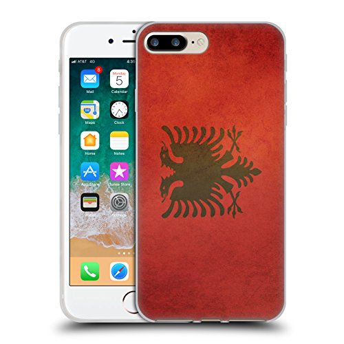 Head Case Designs Albania Albanese Bandiere Vintage Set 6 Cover in Morbido Gel Compatibile con Apple iPhone 7 Plus/iPhone 8 Plus