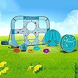 EODPOT Set de portería de fútbol para niños, Mochila, Redes de portería de fútbol Plegables, metas de fútbol 2 en 1, Regalos de fútbol Que Hacen Felices a los niños