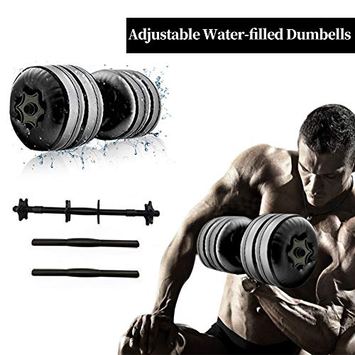 Lacyie Kurzhanteln Verstellbare Hanteln, 15-20kg Sports Hanteln Zum Befüllen Wassergefüllte Adjustable Dumbbells Umwelttraining Arm Muskelkrafttraining Fitness Hantel für Männer Damen(2er-Set)