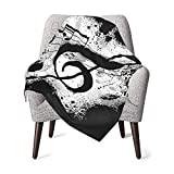Music Note Fleece Baby Blanket Receiving Blankets for Toddler Infant Newborn Boys and Girls Gift Warm Cozy Daycare Nursery Blanket for Crib Stroller Nap Outdoor Decor