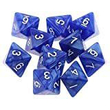 全8色 10個入 D8多面体 8面 ダイス サイコロ - 青