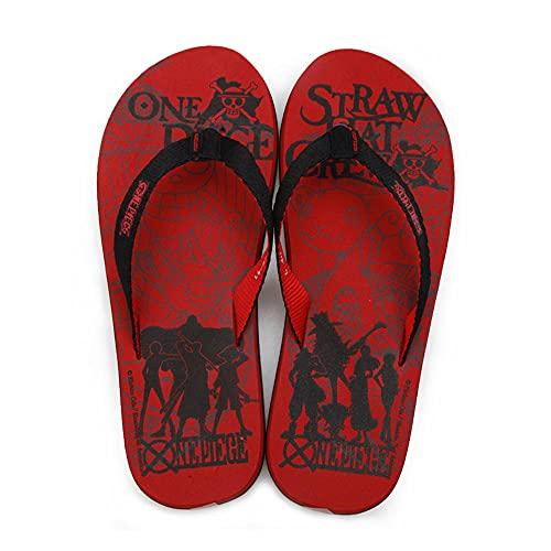 PERRTWDLF Chanclas de Playa Zapatillas de una Pieza Hombres Mujeres Verano Parejas Anime japonés Chanclas diversión Sandalias Ocio Zapatos de Playa Suela Blanda Zapatos de piso-1106_42-43 (290 mm)