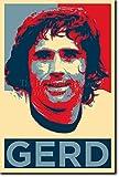 TPCK Gerd Muller Kunstdruck (Obama Hope Parodie) Hochglanz