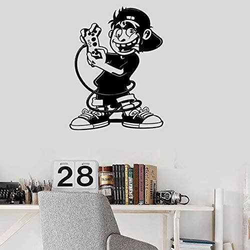 Tianpengyuanshuai Spieler Junge wandtattoos kinderzimmer Dekoration Computer Spiel Joystick Dekoration kreative Aufkleber 63x82 cm