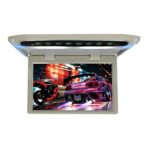 MiCarBa Flip Down Monitor für Auto 1080P HD TFT LCD Auto Dach Halterung Monitor Ultra Thin Overhead Video Player HDMI SD MP3 MP4 LED