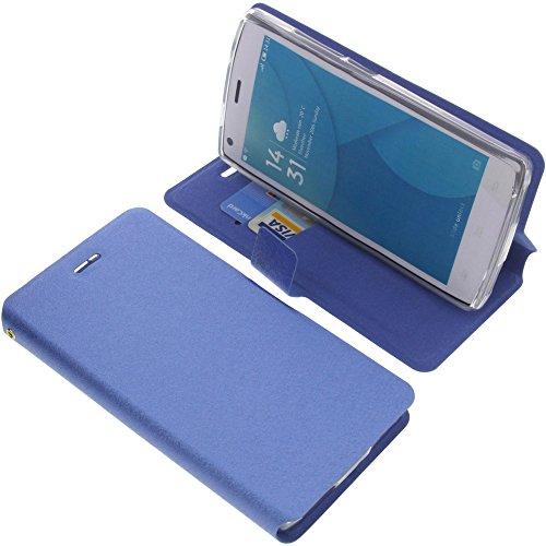 foto-kontor Tasche für Doogee X5 Max Pro X5 Max Book Style blau Schutz Hülle Buch