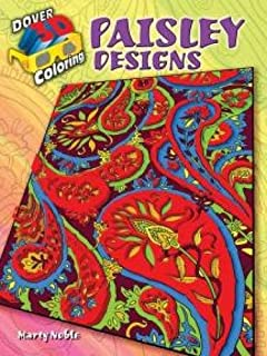 3-D Coloring Book - Paisley Designs