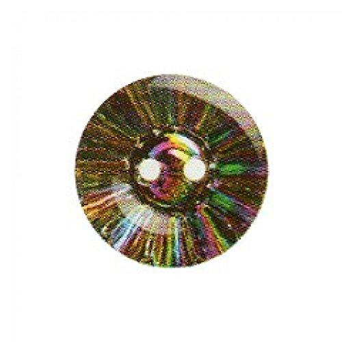 Hemline Bouton Rond Multicolore avec motif explosion 12,5 mm-Lot de 3