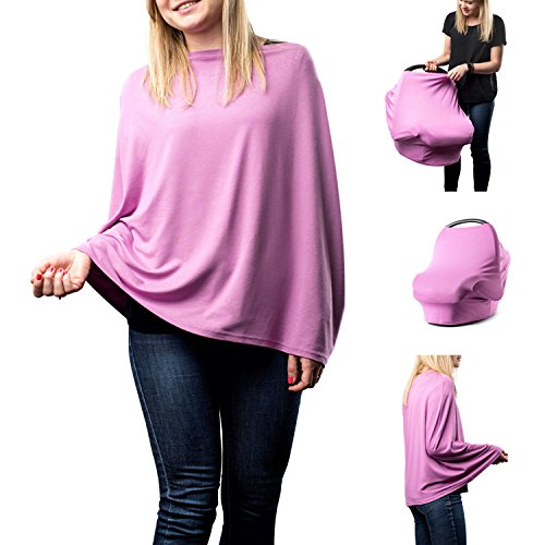 Nursing Cover / Scarf – For Breastfeeding – Multi-functional, Soft & Breathable (Pink)