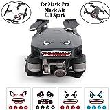 Crazepony-UK Mavic Pro Sticker Decal Skin Guard, Mavic Air / DJI Spark Skin Sticker Decal, Battery Number Sticker Shark face Decal Drone Sticker 3M Waterproof DJI Drone Accessories