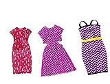 Set of 3 Barbie Dresses - Fits all Shapes incl Curvy