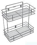 BRIJESH CART Multipurpose Storage Rack/Shelf, Double Layer Kitchen Rack, Dish Rack , Spice Rack, Bathroom Shelves and Racks Steel, Wall Mounted Organiser for Home