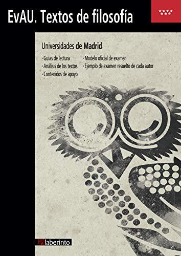 Textos De Filosofía EvAU 2019. Universidades de Madrid
