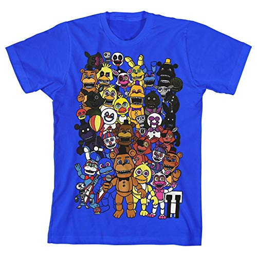 Five Nights at Freddy's Youth Boys T-Shirt-Small Blue