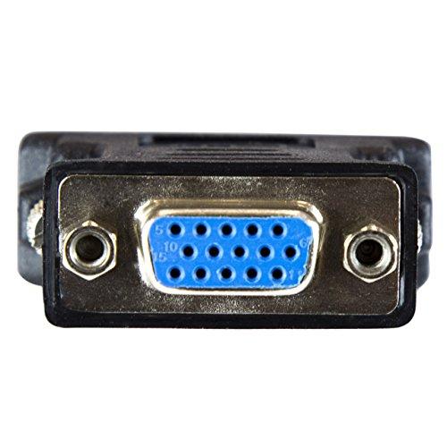 StarTech.com DVI to VGA Cable Adapter - Black - M/F - DVI-I to VGA Converter Adapter (DVIVGAMFBK)
