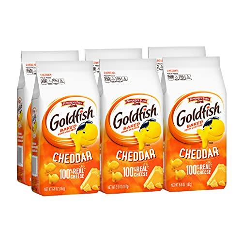 Pepperidge Farm Goldfish Cheddar Crackers, 6-Count 6.6 Oz. Bags Now $4.68
