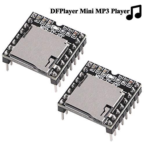 Innovateking-EU 2 Stücke DFPlayer Mini MP3 Player Modul Kompatibel mit UNO R3 für Arduino Audio Voice Decode Board Sound Modul Unterstützung TF Card und USB Flash Laufwerk