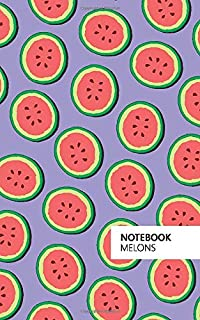 Melons Notebook: (Purple Edition) Fun notebook 96 ruled/lined pages (5x8 inches / 12.7x20.3cm / Junior Legal Pad / Nearly A5)