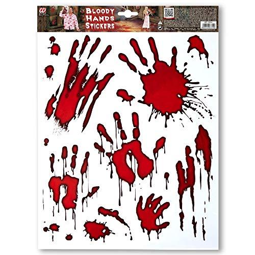 Widmann vd-wdm03314 autocollants mains insanguinate, rouge, taille unique