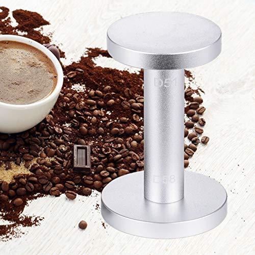 Coffee Tamper, Tamper for Espresso Barista Espresso Tamper Machine Press 51/ 58mm Flat Base Coffee Bean Press Taste Aluminum Polished Improving Non Rust