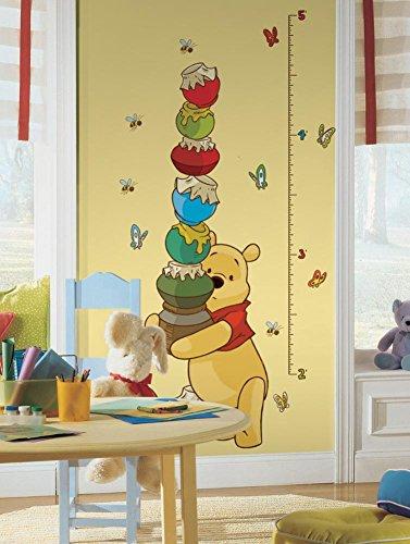 Winnie The Pooh – Winnie l'ourson Peel & Stick Growth Chart Autocollant Mural 18 x 40 en