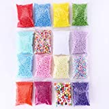 Tawadi Foam Beads for Slime - 3 Size Craft Foam Balls for DIY Crafts Supplies -16 Pack Slime Beads for Homemade Slime Making - Floam Beads for Soft Clay and Home Decoration (16 Pack)