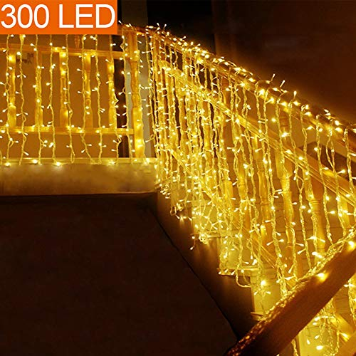 MOVEONSTEP catena luminosa 300 Led 33m corda leggera bianca 8 modalità impermeabile decorazione...