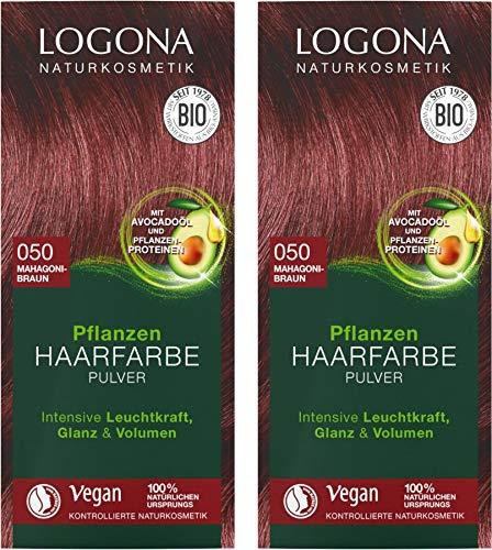 Logona Henna Haarfarbe Pflanzenhaarfarbe mahagoni im Doppelpack 2 x 100 g