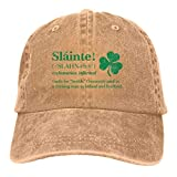 S&S-Men Irish Toast Green Printing Unisex Baseball Cowboy Hat Retro Sports Cowboy Hat Adjustable Adult Hat