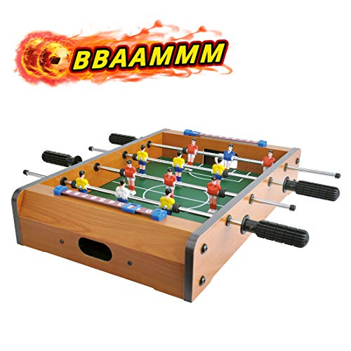 """CIGOCIVI 20"""" Foosball Table Games for Family Game Night with Kids Portable Mini Tabletop Soccer Games for Adults"""